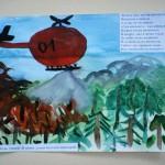 Зонов Кирилл 5 лет  Пожар в лесу