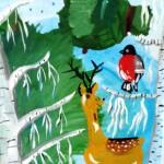 Шаманова Катя 6 лет Зима в лесу