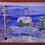 Афанасьева Анастасия 7 лет Зимний пейзаж