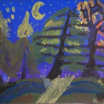 Вдовин Александр,9 лет Ночь в осеннем лесу